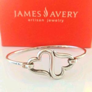 Retired James Avery Heart to Heart Hook Bracelet
